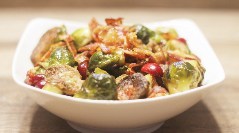 Festive Cranberry Brussel Sprouts